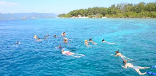 After trekking Mount Rinjani, Snorkeling to Gili Trawangan