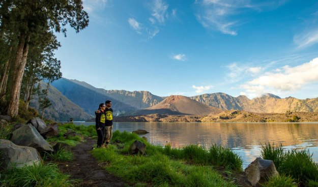Lake Segara Anak altitude 2000 meters of Mount Rinjani
