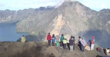 Rest from the Summit here at Plawangan Sembalun Crater altitude 2639 m of Mount Rinjani