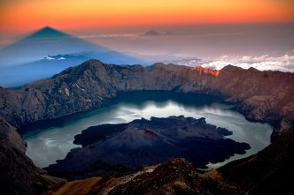 Summit of Mount Rinjani 3736 m