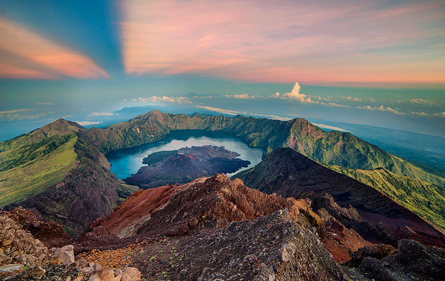 The Summit of Mount Rinjani 3726 meters